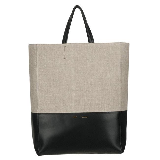 celine tote handbag in leather