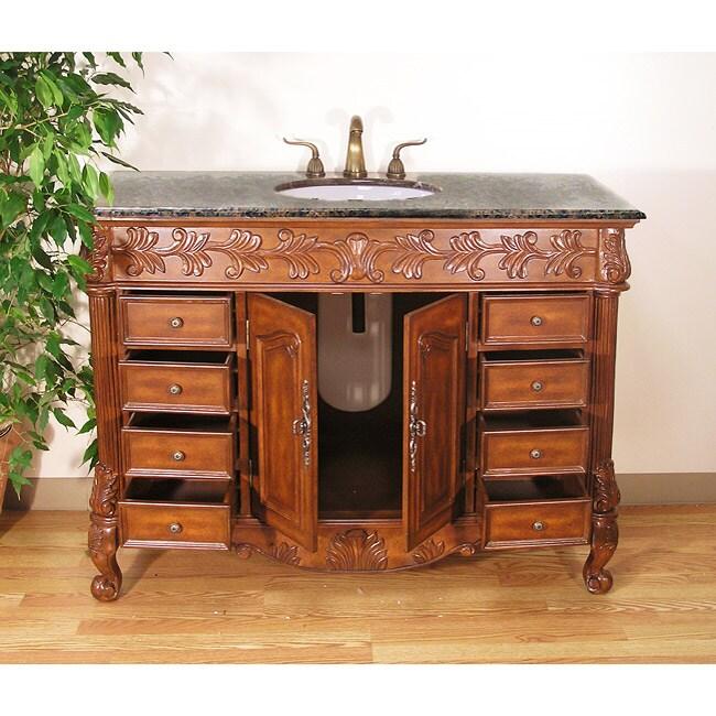 Granite Top 49-inch Bathroom Vanity