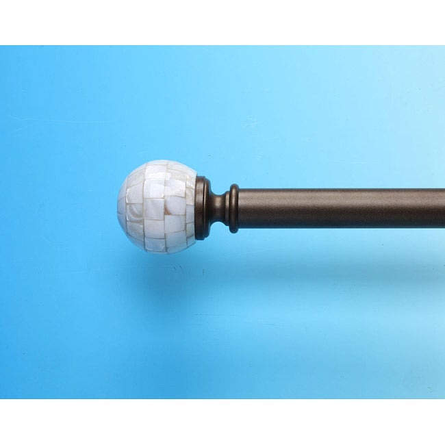 Capiz 44 to 88-inch Adjustable Curtain Rod Set