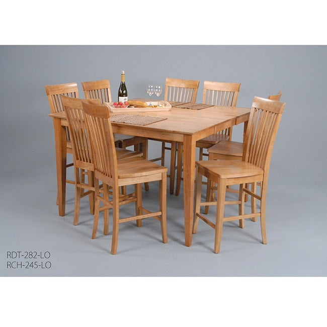 Counter Height Leaf Table : Contemporary Light Oak Counter Height Butterfly Leaf Table - Overstock ...