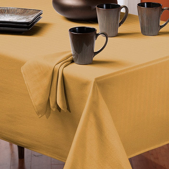 Rosedale Spill-proof Butter 60x120-inch Rectangular Tablecloth