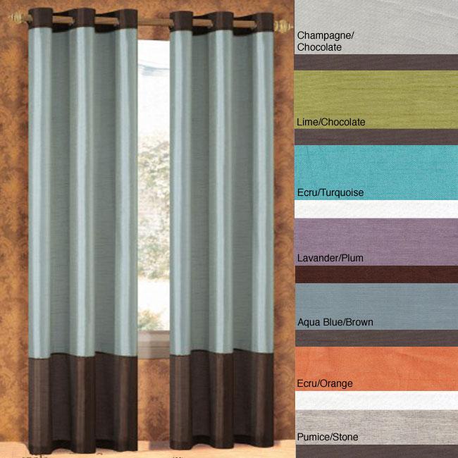 Bridgette Faux Silk 84-inch Curtain Panel