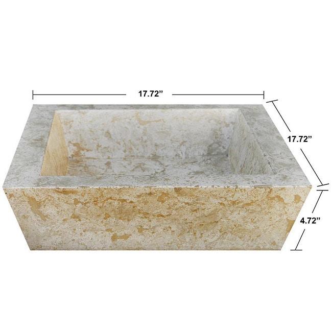 Concrete Square Incline Marble Sink