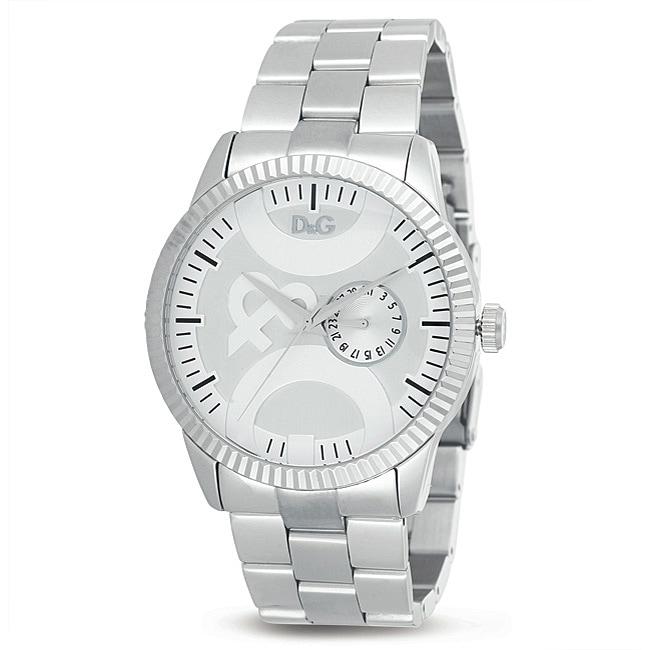 D&G Dolce & Gabbana Men's Stainless Steel Link Bracelet Watch