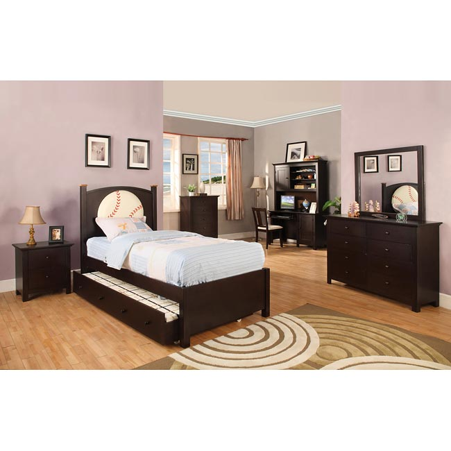Furniture of America Conrad Baseball-theme Twin-size Bedroom Set