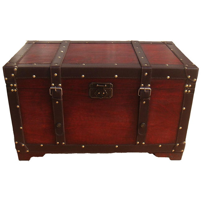 Phat Tommy Retro Decorative Wooden Storage Trunk