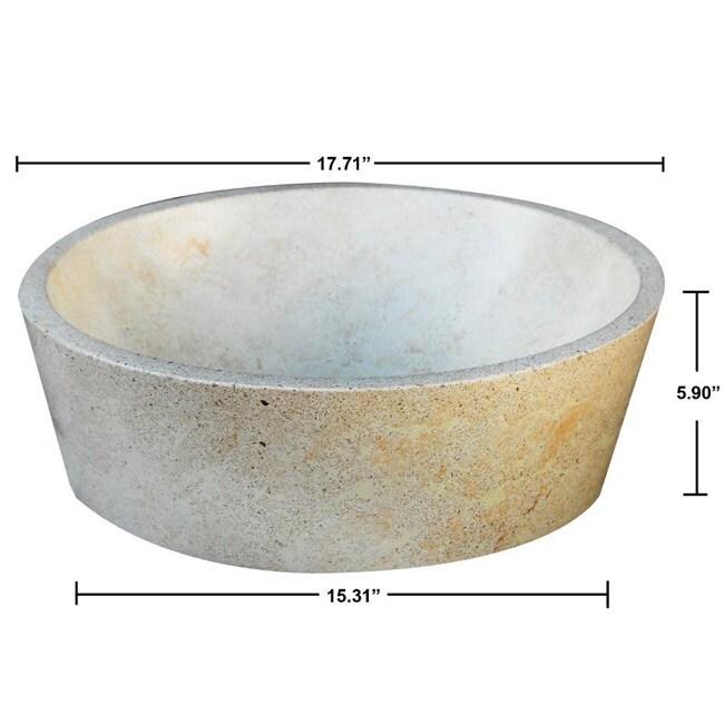 Concrete Full Moon Cream Sink