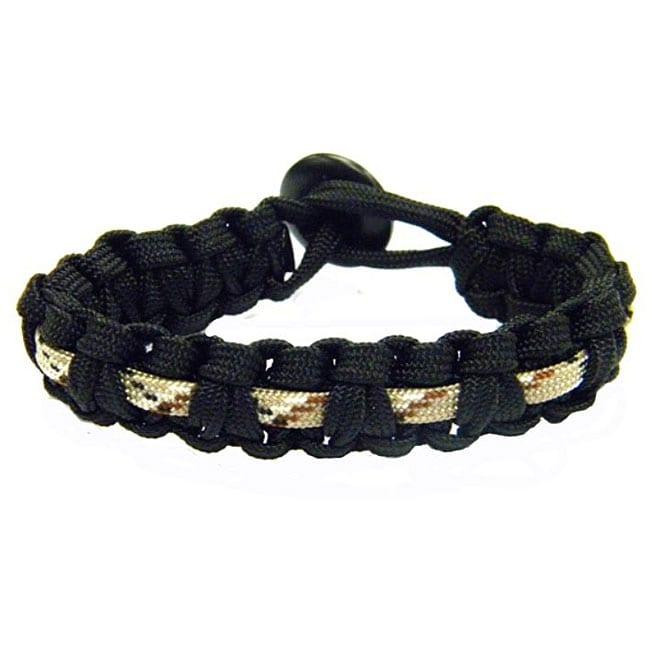 Paracord Black and Green Camo Bracelet (USA)