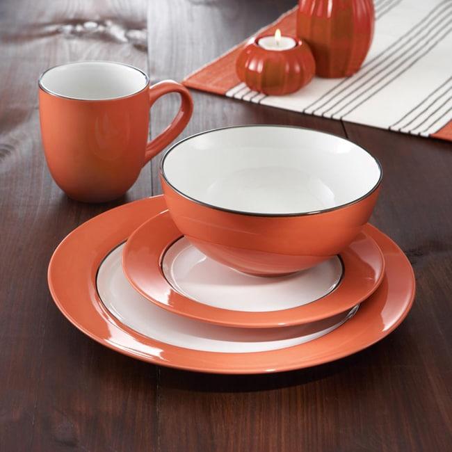 American Atelier Regency Coral 16-piece Dinnerware Set