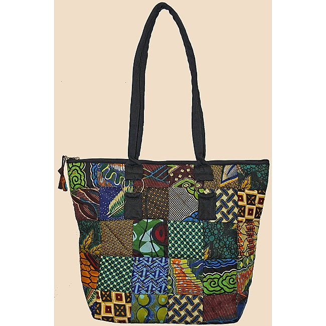 Quilted Zippered Original Patchwork Tote (Kenya)