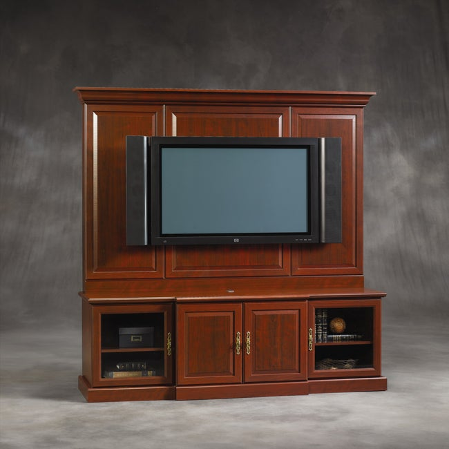 Sauder Cherry Entertainment Wall