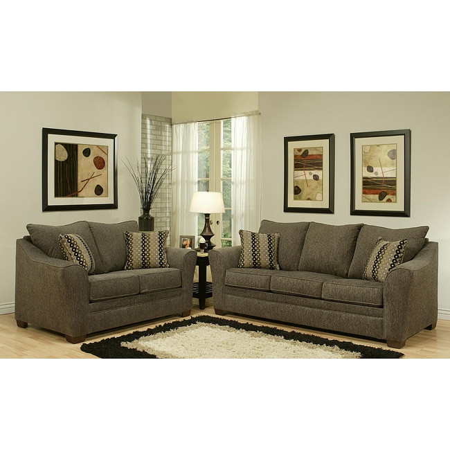 Furniture of america chase chenille sofa and loveseat set 13672215 shopping Chenille sofa and loveseat