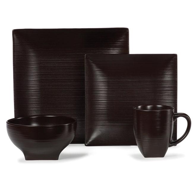 Mikasa Stoneridge Chocolate 4-piece Dinnerware Set