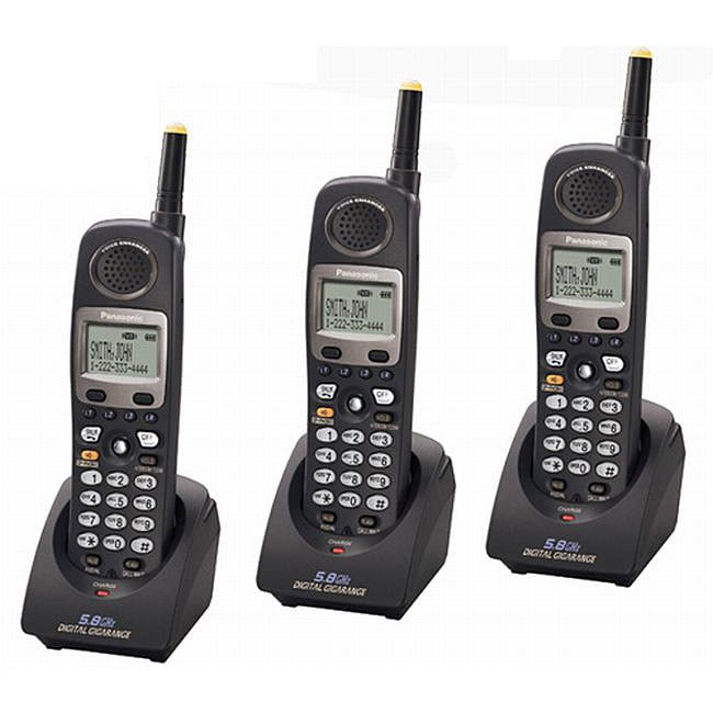 Panasonic KX-TGA450B 5.8 Ghz Wireless Phone (Pack of 3)