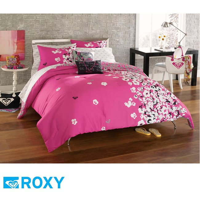 roxy muse full size 9 piece bed in a bag with sheet set. Black Bedroom Furniture Sets. Home Design Ideas