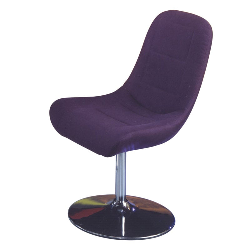 Melrose Airbrush Eggplant Dining Chair