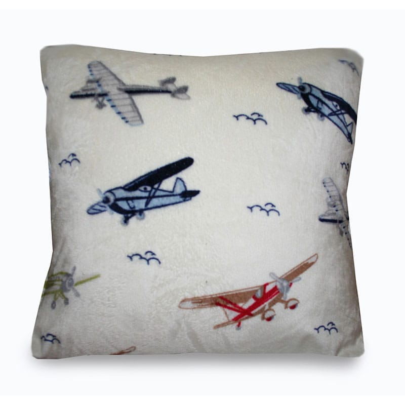 Decorative Airplane Pillow : Vintage Airplanes Microplush Decorative Pillow - 13680869 - Overstock.com Shopping - Great Deals ...