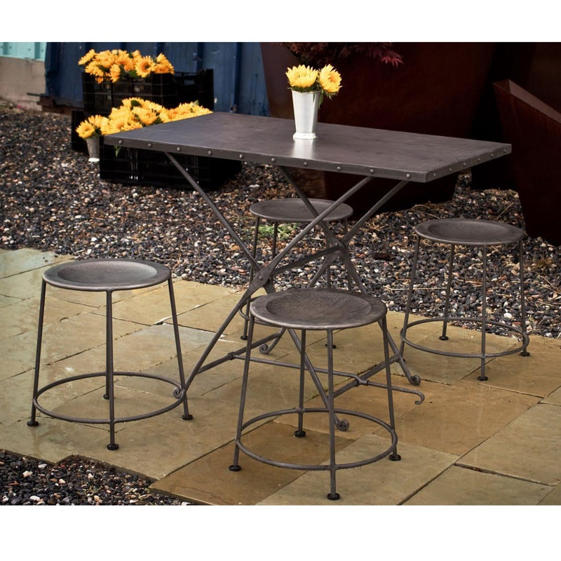 Steel Zinc Adjustable Table and Stools Set India  : L13681290 from www.overstock.com size 800 x 800 jpeg 115kB