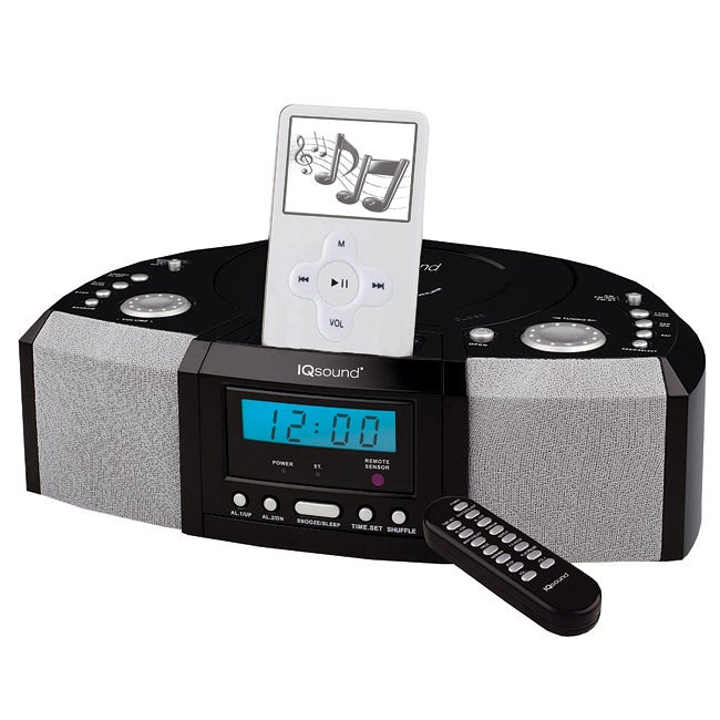 IQ Sound IQ-1305 Portable MP3 Speaker Docking Station/ CD Player with AM/FM Radio