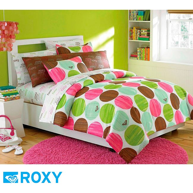 Roxy bed in a bag roxy seeing spots twin size 7 piece bed in a bag