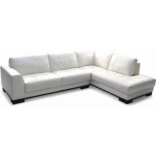 Harmony Sectional Right Top Grain Leather Sofa 13684532