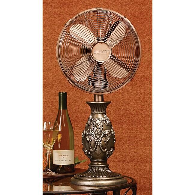 Deco Breeze DBF0277 Fleur De Lis 10-inch Buffet Fan