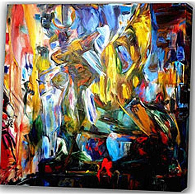 Abstract 'Dance' Canvas Art