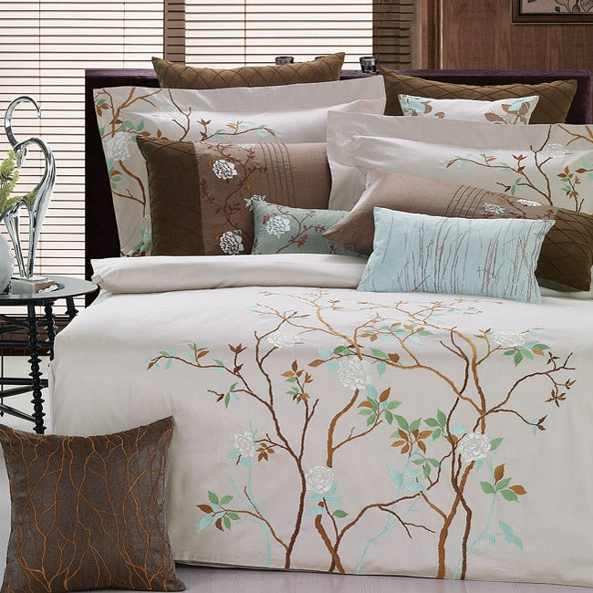 Mayfield Embroidered King-size 3-piece Duvet Cover Set