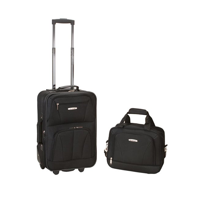 Luggage by O Rockland Expandable Black 2-piece Lightweight Carry-on Luggage Set at Sears.com