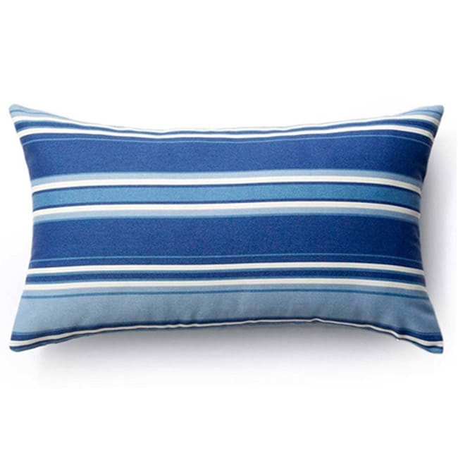 Blue Stripes Outdoor Throw Pillow