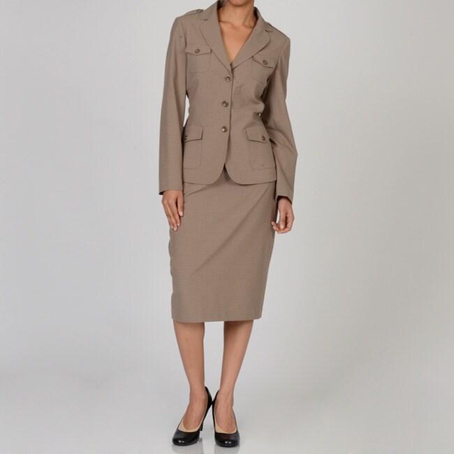 meyer of norwich s brown plus size safari skirt