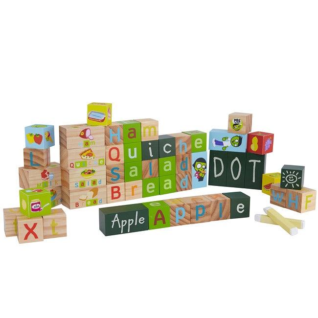 Wood 'Letters' 45-piece Exploration Blocks Set
