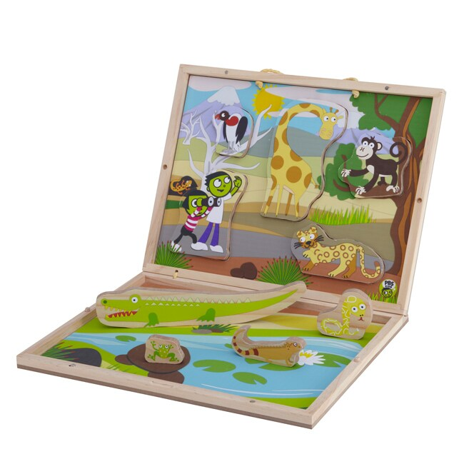 Take-Along 'Safari' 3D Wooden Puzzle Set
