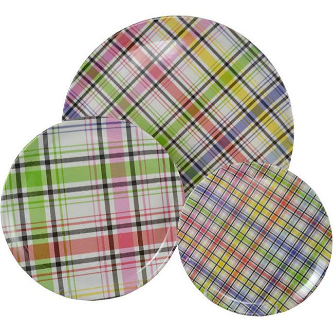 Tango Groovy Plaid 9-piece Dinnerware Set