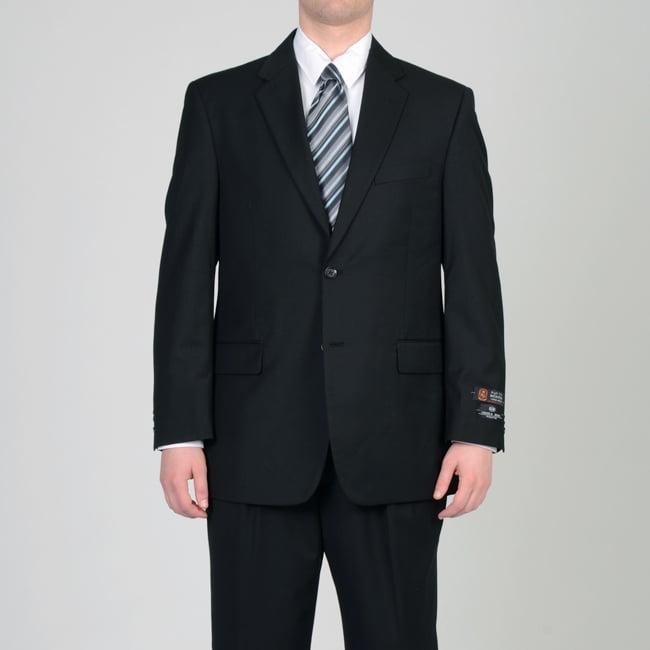 Circola Moda Men's Black 2-button Suit