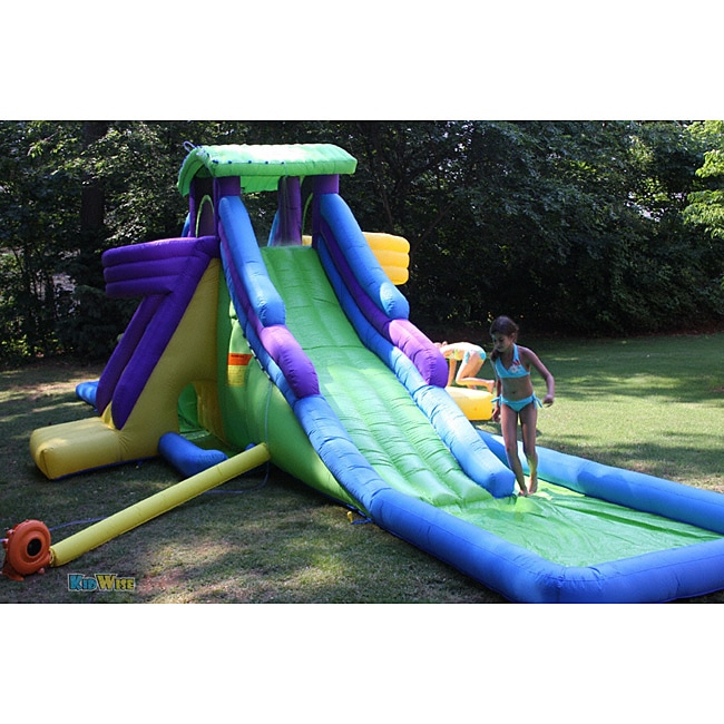 Inflatable Water Slide Az: KidWise Dueling Back To Back Waterpark WaterSlide