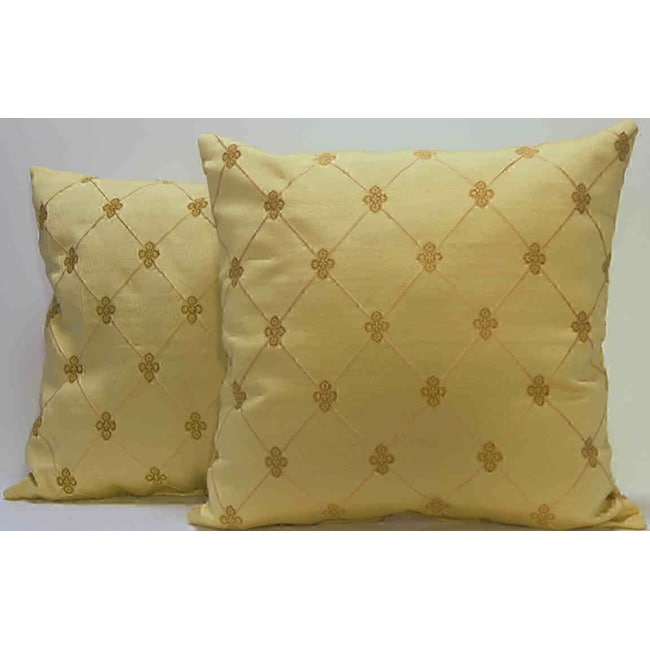 Rashida Citron Gold Medallion Throw Pillows (Set of 2)