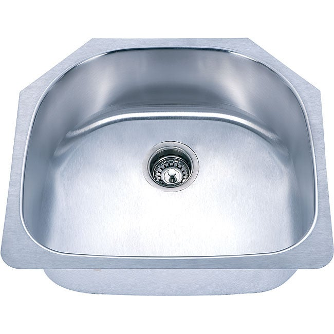 Fine Fixtures D-shaped Undermount Stainless Steel Single Bowl Sink