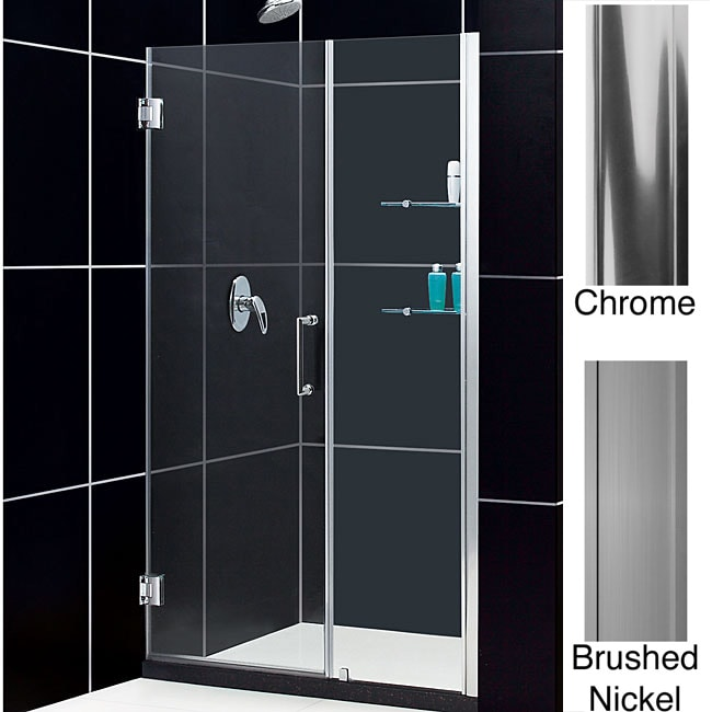 Overstock.com DreamLine Unidoor Frameless Shower Door 52-53 Adjustable Shower Stall at Sears.com