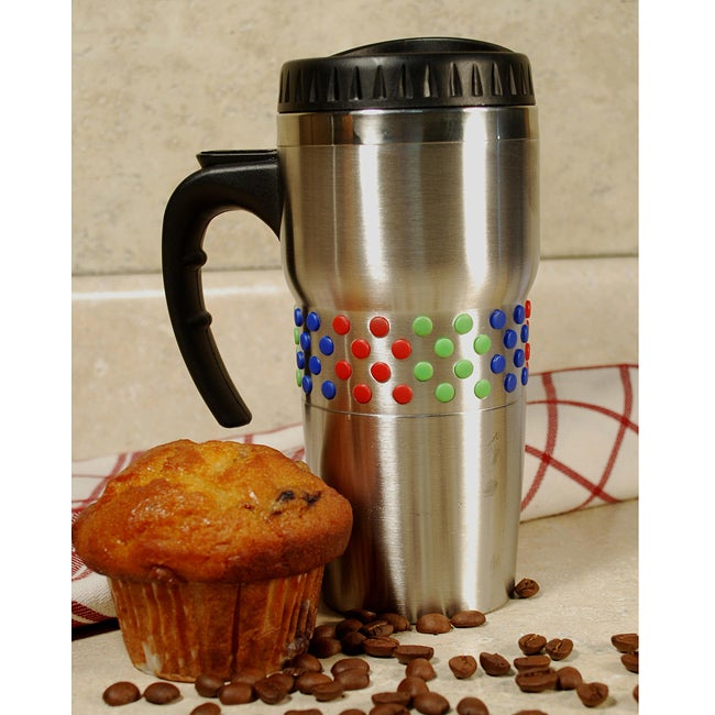 Overstock.com Stainless Steel 2-piece Double-wall Coffee and Travel Mug at Sears.com
