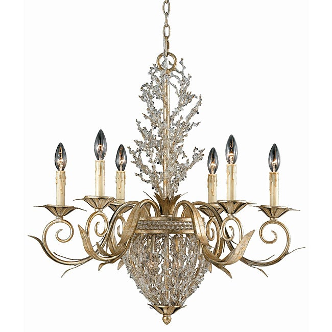 Garland Gold and Silver Leaf 8-light Chandelier
