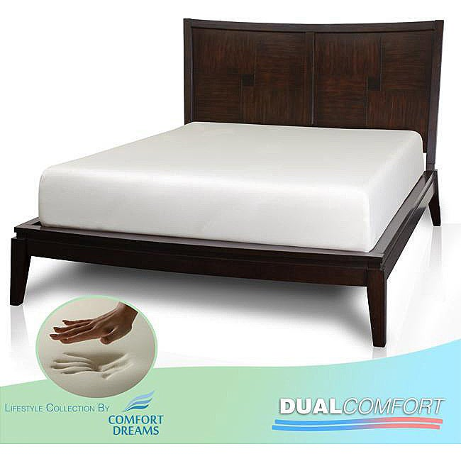 Comfort Dreams Dual Comfort 12-inch Queen-size Memory Foam Mattress