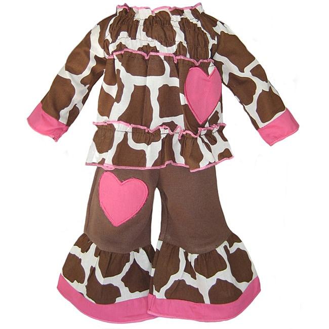 Ann Loren Giraffe Love Outfit For 18-inch American Girl Dolls