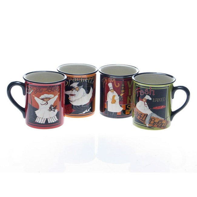 Certified International International Chefs 18-ounce Mugs (Set of 4)