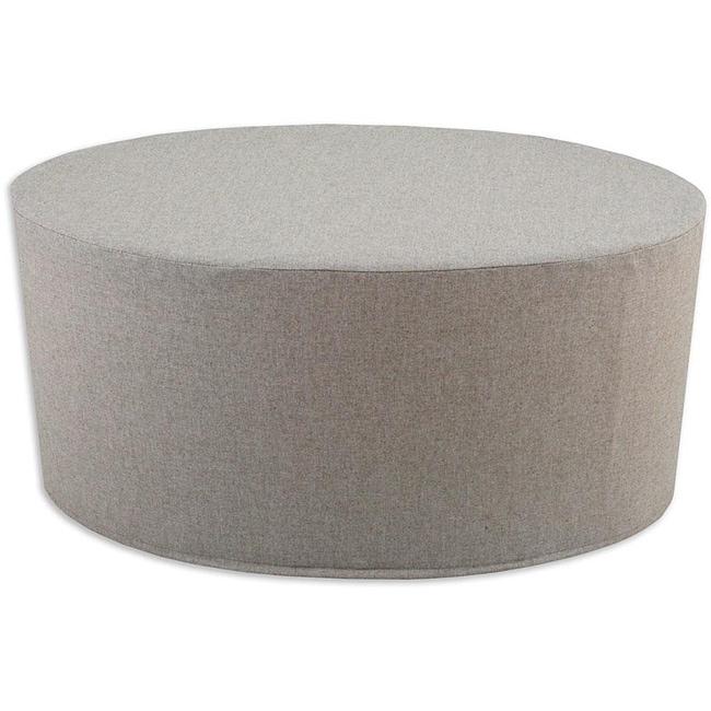 Linen Natural Oval Foam Ottoman