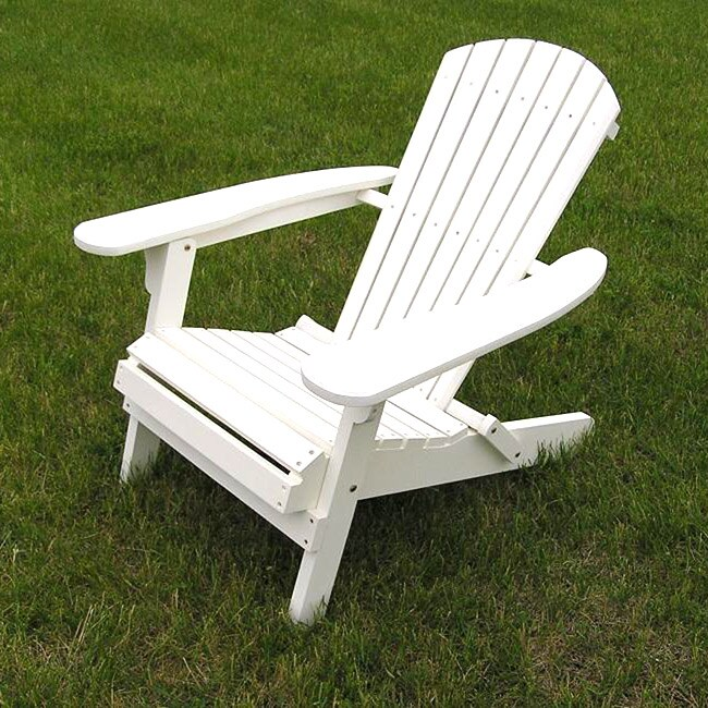 Deluxe White Adirondack Folding Chair