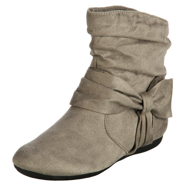 Rampage Women's 'Brie' Grey Bow Ankle Booties