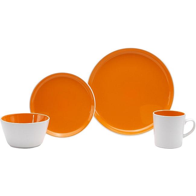 Oneida Color Burst Chili Mango 16-piece Dinnerware Set