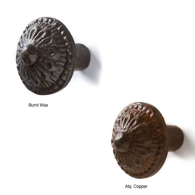 Set of 6 Recycled Iron Isabella Knobs (India)