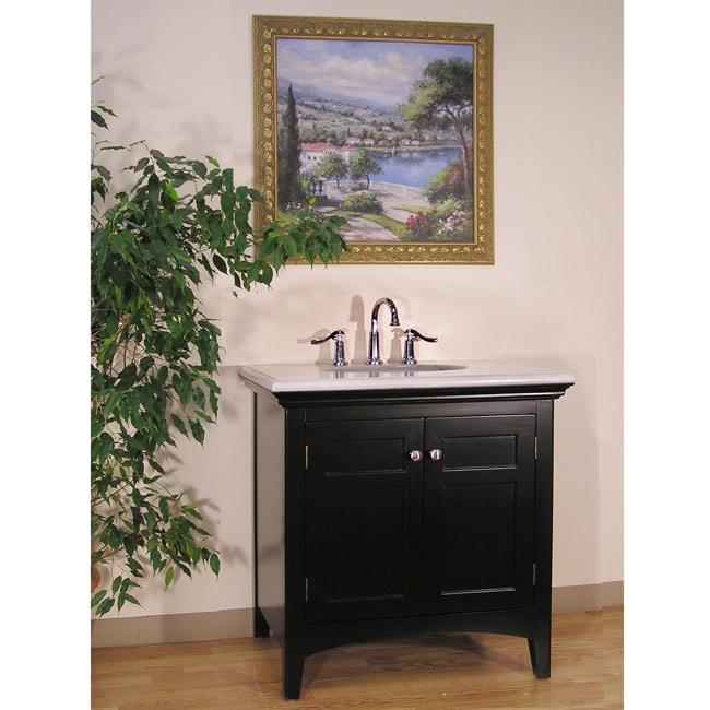 Marble Top 38-inch Single Sink Bathroom Vanity